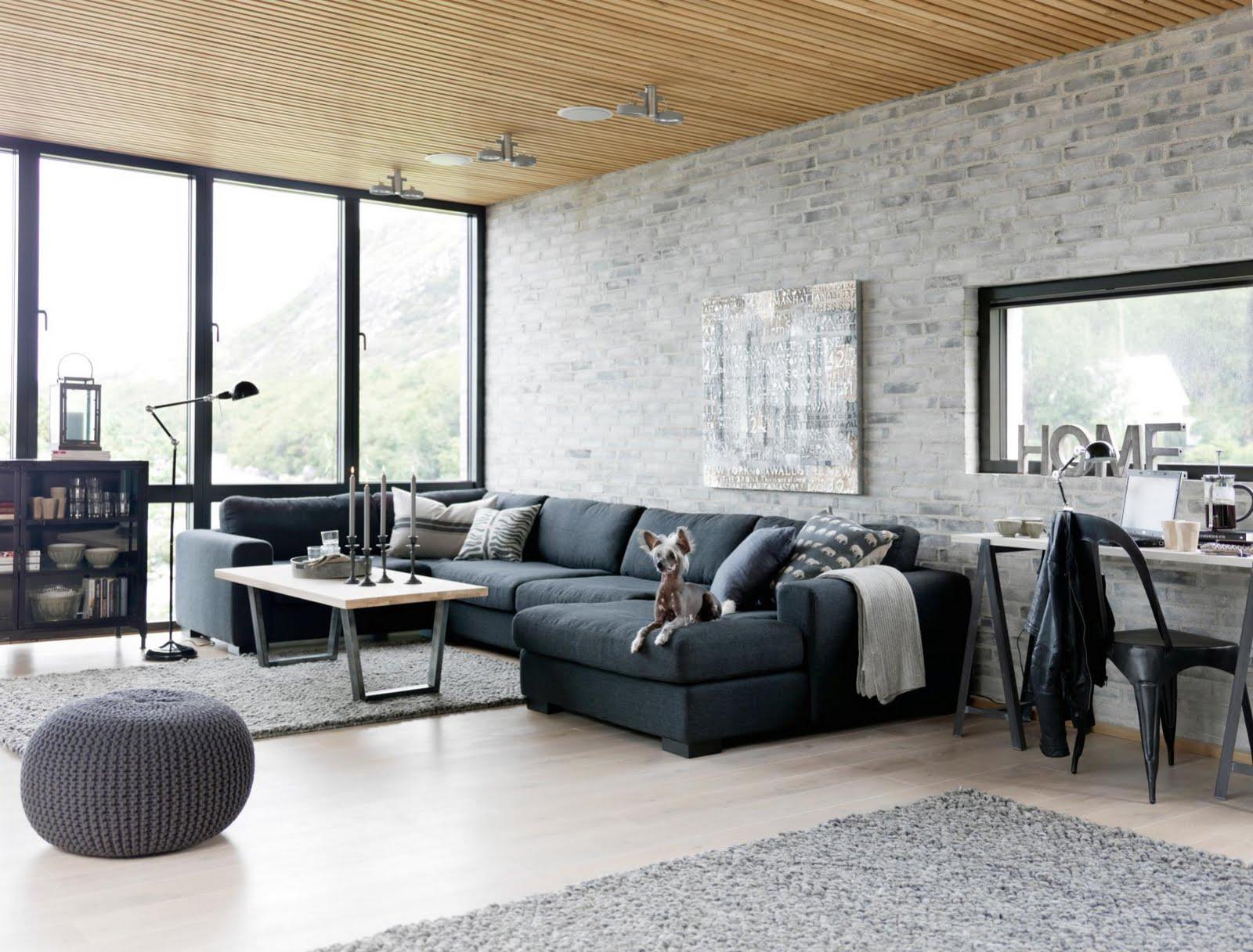 arredare casa in stile industriale soggiorno