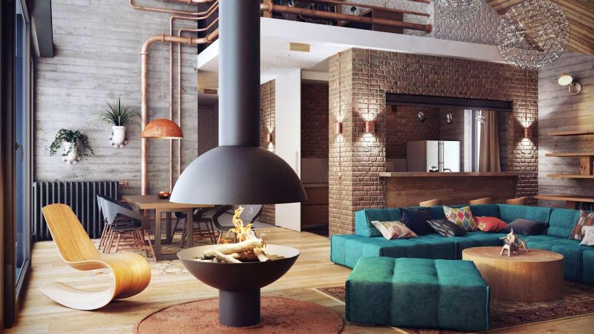 arredare casa in stile industriale esempi