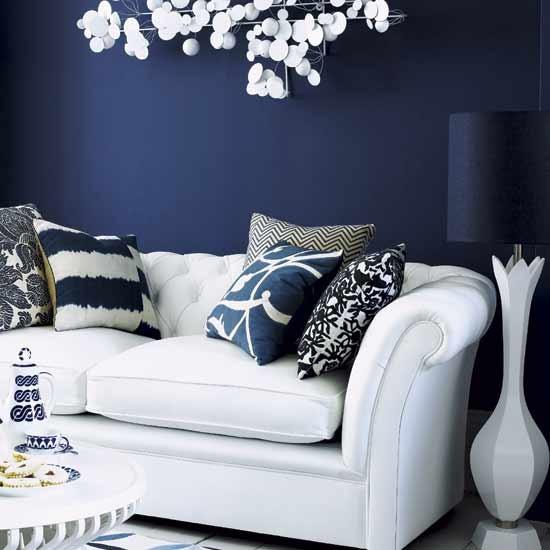 tendenze per il soggiorno blu