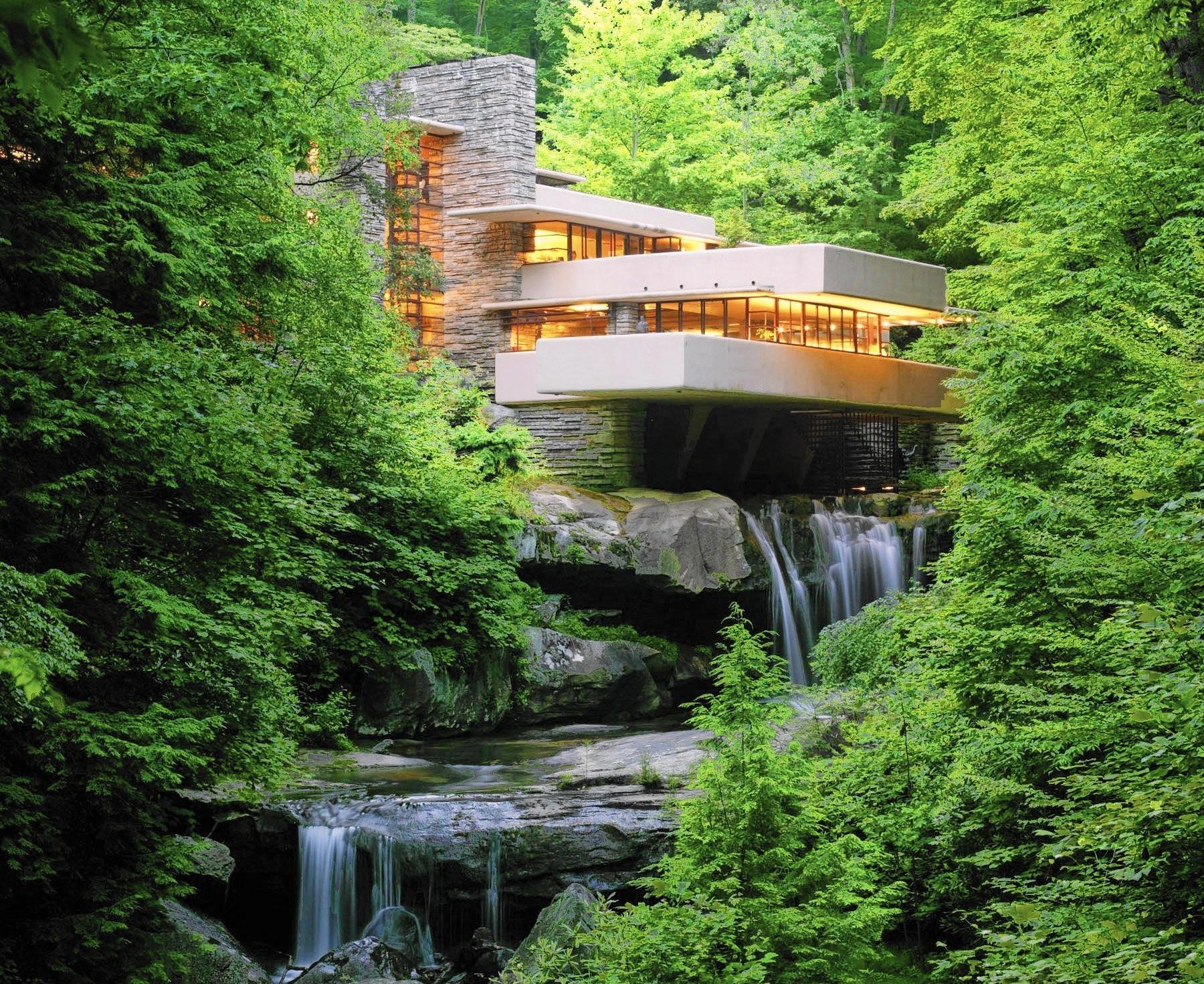 Casa sulla cascata architetto frank lloyd wright blog for Frank lloyd wright piani casa della prateria