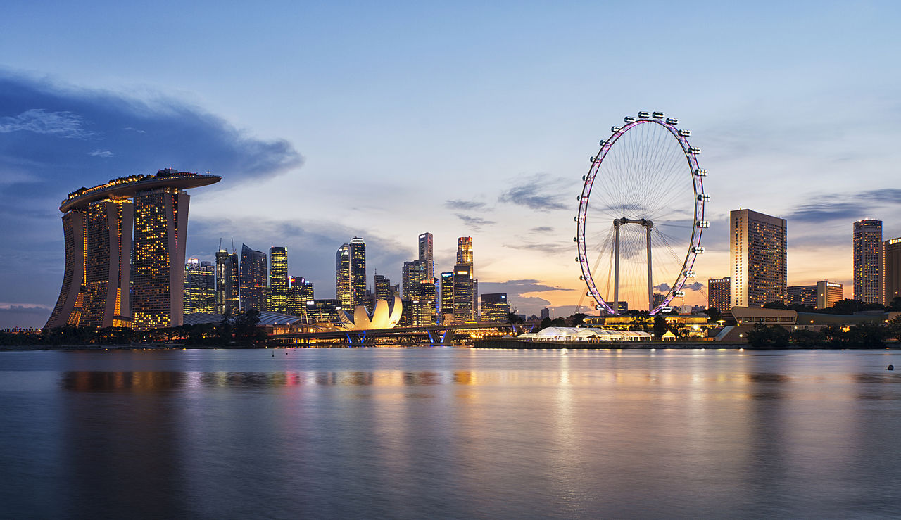 singapore skyline più belli