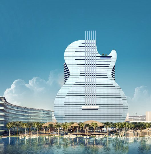 primo edificio a forma di chitarra