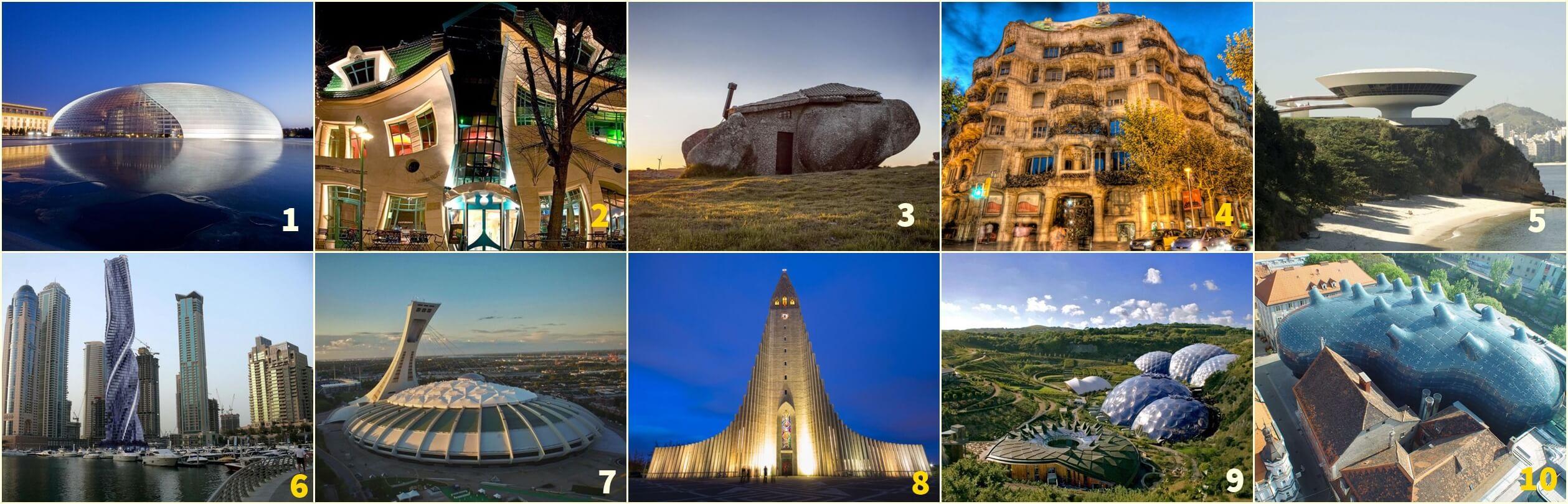 i 10 edifici più originali del mondo